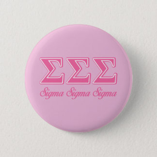 Sigma Sigma Sigma Pink Letters Button