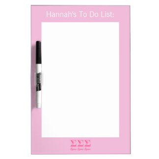 Sigma Sigma Sigma Pink Letters Dry Erase Board