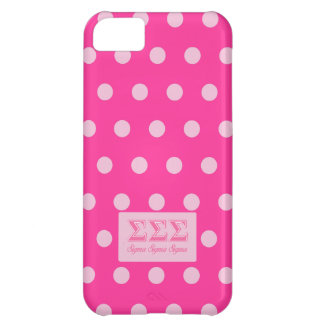 Sigma Sigma Sigma Pink Letters iPhone 5C Case