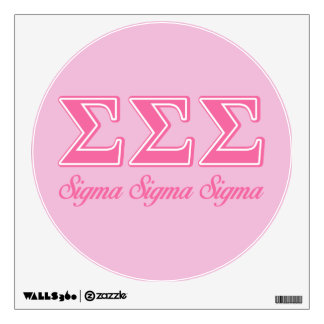 Sigma Sigma Sigma Pink Letters Wall Decal
