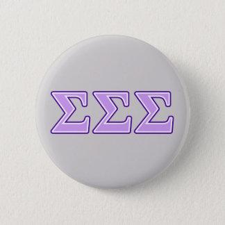 Sigma Sigma Sigma Purple and Lavender Letters Button