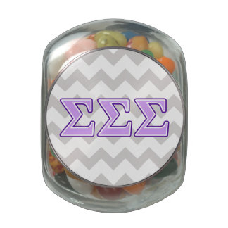 Sigma Sigma Sigma Purple and Lavender Letters Jelly Belly Candy Jars