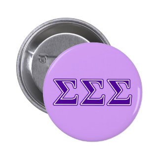 Sigma Sigma Sigma Purple Letters Button