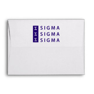 Sigma Sigma Sigma Stacked Envelope