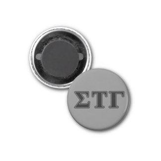 Sigma Tau Gamma Black Letters 1 Inch Round Magnet
