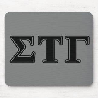 Sigma Tau Gamma Black Letters Mouse Pad