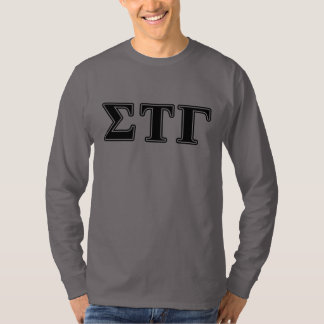 Sigma Tau Gamma Black Letters T-Shirt