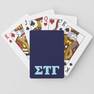 Sigma Tau Gamma Blue Letters Card Deck