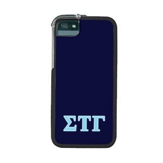 Sigma Tau Gamma Blue Letters Case For iPhone 5