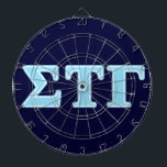 "Sigma Tau Gamma Blue Letters Dart Board<br><div class=""desc"">Check out these official Sigma Tau Gamma designs! Personalize your own Greek merchandise on Zazzle.com! Click the Customize button to insert your own name, class year, or club to make a unique product. Try adding text using various fonts &amp; view a preview of your design! Zazzle&#39;s easy to customize products...</div>"