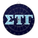 Sigma Tau Gamma Blue Letters Dart Board<br><div class='desc'>Check out these official Sigma Tau Gamma designs! Personalize your own Greek merchandise on Zazzle.com! Click the Customize button to insert your own name, class year, or club to make a unique product. Try adding text using various fonts &amp; view a preview of your design! Zazzle&#39;s easy to customize products...</div>