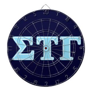 Sigma Tau Gamma Blue Letters Dart Board