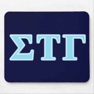 Sigma Tau Gamma Blue Letters Mouse Pad