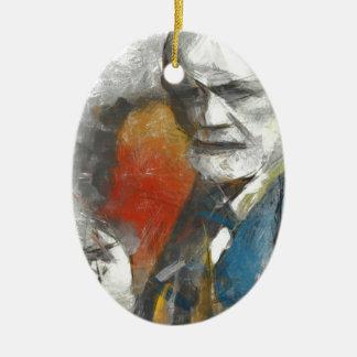Sigmund Adorno Navideño Ovalado De Cerámica