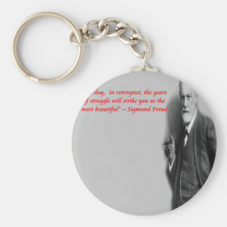 "Sigmund Freud Famous ""Struggle"" Quote Keychain"