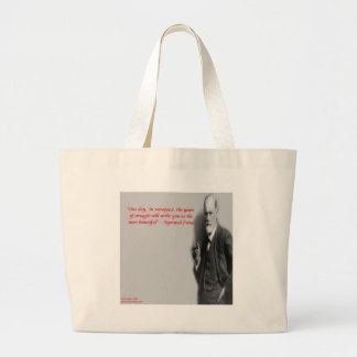 "Sigmund Freud Famous ""Struggle"" Quote Large Tote Bag"