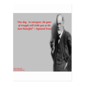"Sigmund Freud Famous ""Struggle"" Quote Postcard"