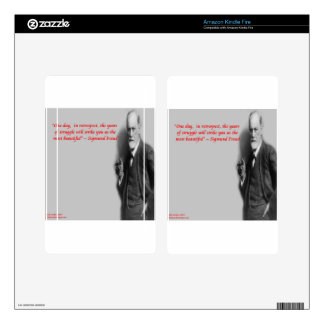"""Sigmund Freud Famous """"Struggle"""" Quote Skin For Kindle Fire"""