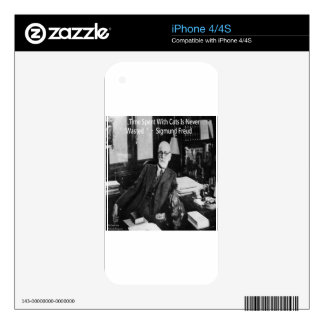 Sigmund Freud In His Office & Funny Cat Quote iPhone 4S Decal