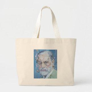 SIGMUND FREUD - oil portrait Large Tote Bag