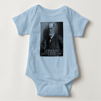 "Sigmund Freud ""One Day.."" baby grow -choose colour Baby Bodysuit"