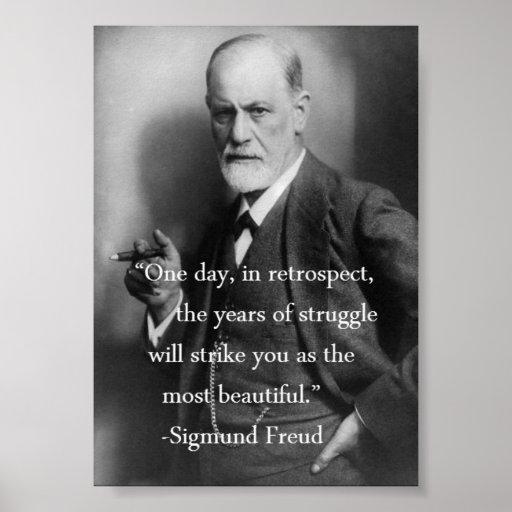 Sigmund Freud Quote Poster