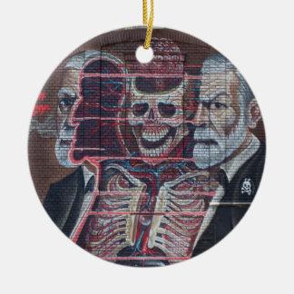 Sigmund Freud Street Art Ceramic Ornament