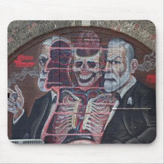 Sigmund Freud Street Art Mouse Pad