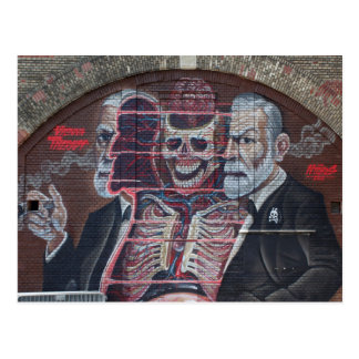 Sigmund Freud Street Art Postcard