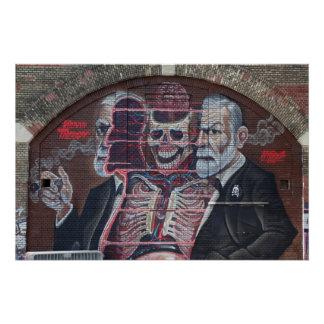 Sigmund Freud Street Art Poster