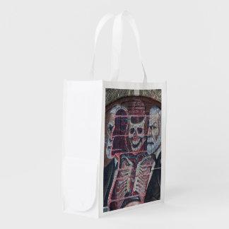 Sigmund Freud Street Art Reusable Grocery Bag