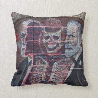 Sigmund Freud Street Art Throw Pillow