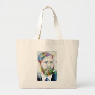 SIGMUND FREUD - watercolor portrait.1 Large Tote Bag