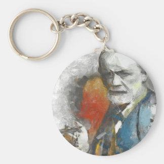 Sigmund Basic Round Button Keychain