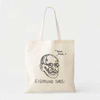 Sigmund Says - Black 1 Tote Bag