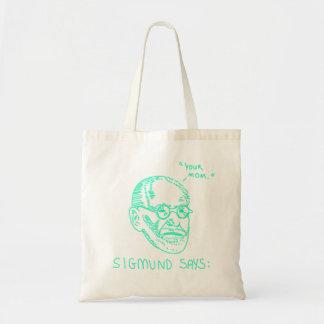 Sigmund Says - Green Tote Bag