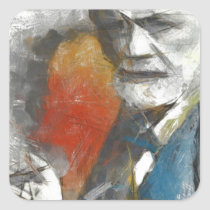 painting, unconscious, medical, freud, physicians, portrait, tempera, psychoanalysis, psychotherapy, mind, researcher, contemporaty, sigmund, medicine, Sticker with custom graphic design