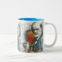 painting, unconscious, medical, freud, physicians, portrait, tempera, psychoanalysis, psychotherapy, mind, researcher, contemporaty, sigmund, medicine, Mug with custom graphic design