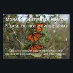 "Sign<br><div class=""desc"">Show people that your yard is a Monarch Butterfly Habitat</div>"