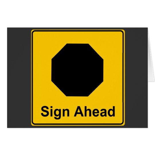 Sign Ahead Card
