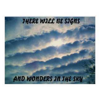 SIGN AND WONDERS IN THE SKY POSTER
