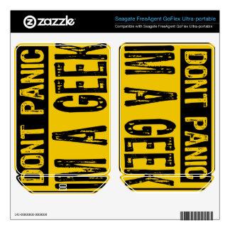 Sign Don t Panic- I m A Geek - Yellow Black FreeAgent GoFlex Skins