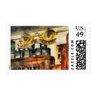 Sign For Spectacles Shop Postage Stamps