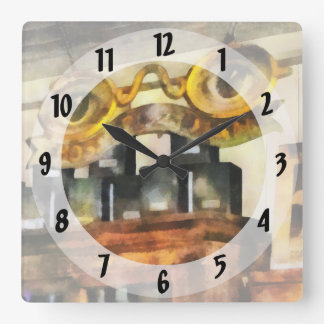Sign For Spectacles Shop Square Wall Clock