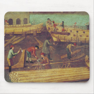 Sign for the Marangoni Family of shipbuilders Mouse Pad