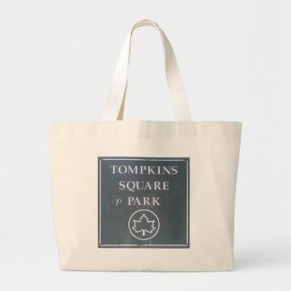 Sign from Tompkins Square Park New York City Jumbo Tote Bag