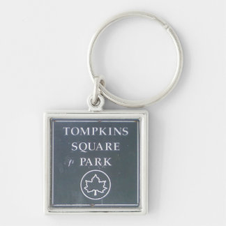 Sign from Tompkins Square Park New York City Keychains