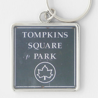 Sign from Tompkins Square Park New York City Keychain