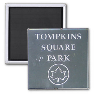 Sign from Tompkins Square Park New York City Fridge Magnets