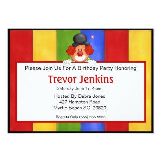 Sign Holding Clown Birthday Invitation